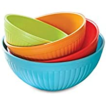 Nordic Ware 4-Piece Prep N Serve Mixing Bowl Set, 2/3.5/5/7-Quart