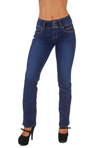 Style B925I1 – Colombian Design, Mid Waist, Butt Lift, Boot Leg Jeans