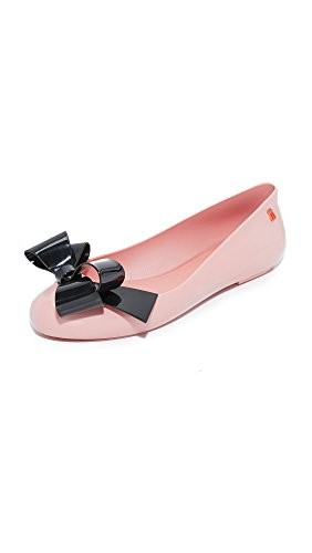 Women's Black Flats Space Melissa Love Pink qd8n6