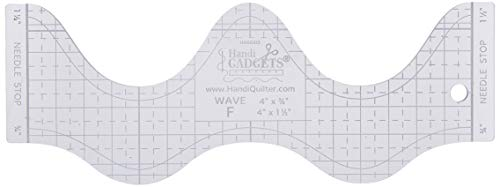 (Handi Quilter, Inc Wave F Ruler Clear)
