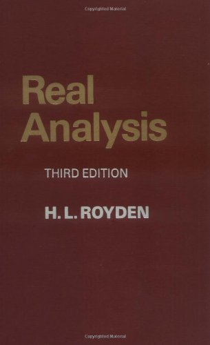 Real Analysis (3rd Edition) 3rd (third) edition (authors) Royden, Halsey (1988) published by Prentice Hall [Paperback]