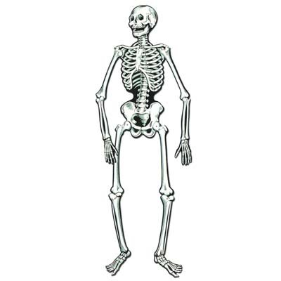 Beistle 01084 Jointed Skeletons, White/Black ()