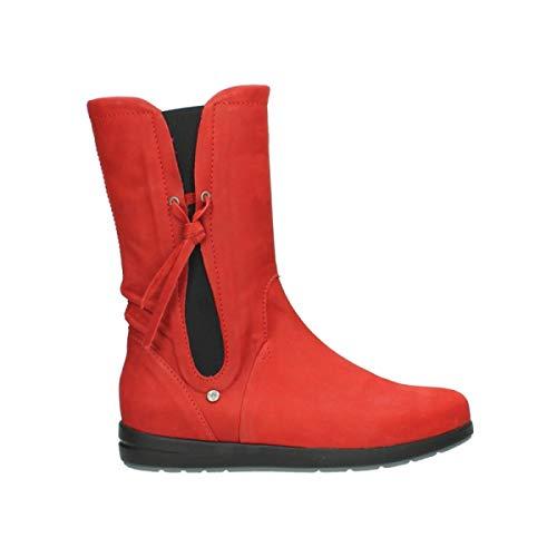 Nubuckleather 13505 Newton Comfort Wolky Red Boots BqXxpURwv