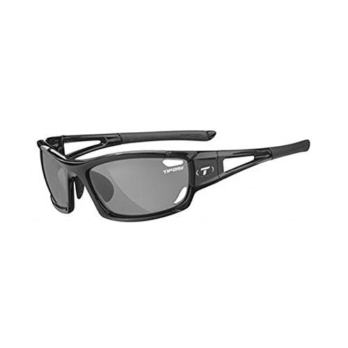 Tifosi Optics Dolomite 2.0 Photochromic Sunglasses - Polarized Gloss Black/Smoke Fototec, One Size - - Sunglasses Tifosi Photochromic