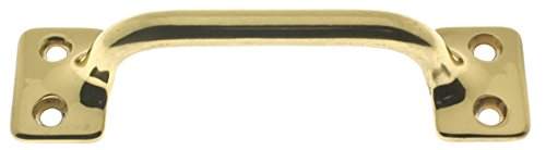 "idh by St. Simons 25042-003 Professional Grade Quality Solid Brass 3-1/2"" c/c Sash Lift/Door Pull, 3-1/2-Inch, Polished"