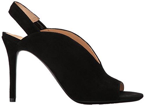 Nove Donne Moore9x9 Delle Sandalo Ovest Tacco Col Camoscio Nere 1qx54CxwB
