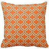PUDA Summer Orange White Retro Chic Trellis Pattern Rustic Decor Pillow Case .