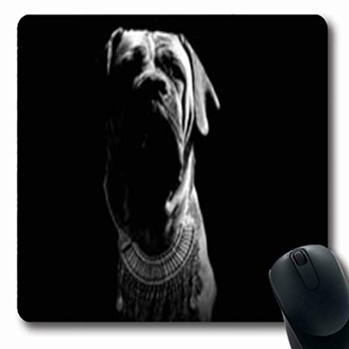 (Pandarllin Mousepads Purchase South African Boerboel Necklace Sales Black White Wildlife Crystals Oblong Shape 7.9 x 9.5 Inches Oblong Gaming Mouse Pad Non-Slip Rubber Mat)