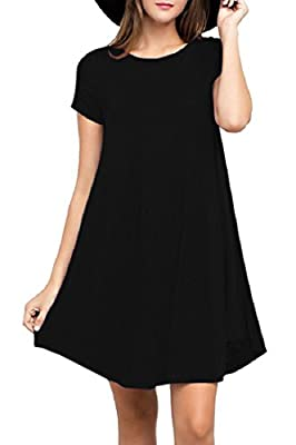 VIISHOW Women's Short Sleeve Casual Loose T-Shirt Dress