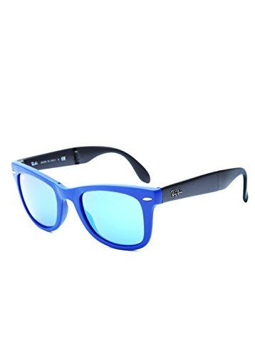 Bleu Lunette Folding RB4105 mm Ban de 50 Wayfarer soleil Wayfarer Blau Ray vqRwH77