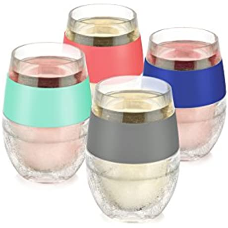 Host Wine Freeze Cooling Cups Multicolor Set Of 4