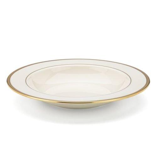 Lenox Tuxedo Gold Banded Ivory China Pasta Bowl/Rim Soup