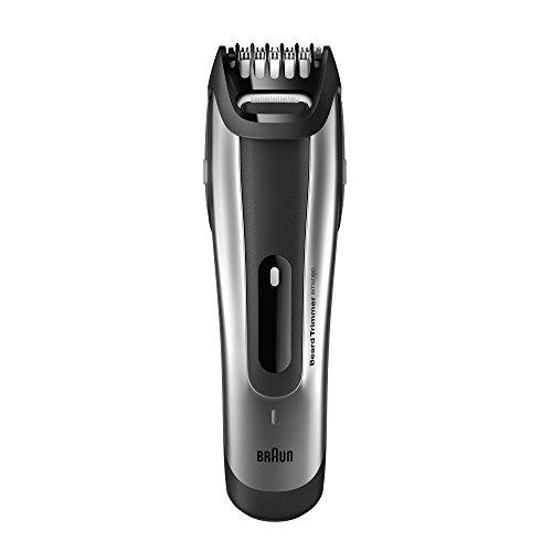 Braun Bartschneider BT5090 Barttrimmer (Bartrasierer zur Bartpflege mit Ladestation) silber