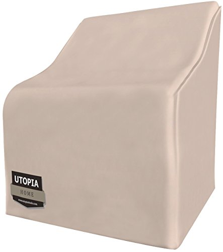 Utopia Home Outdoor Furniture Covers with 35 Inches High Double Stitching – Water Resistant Outdoor Chair Covers – Large Patio Covers with Click-Close Straps by Utopia Home