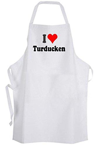 I Love Turducken – Adult Size Apron – Chicken Duck Turkey Cook Chef Holiday