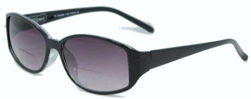 In Style Eyes Stylish Bifocal Sunglasses Black 2.25 - Sunglasses Line Bifocal No