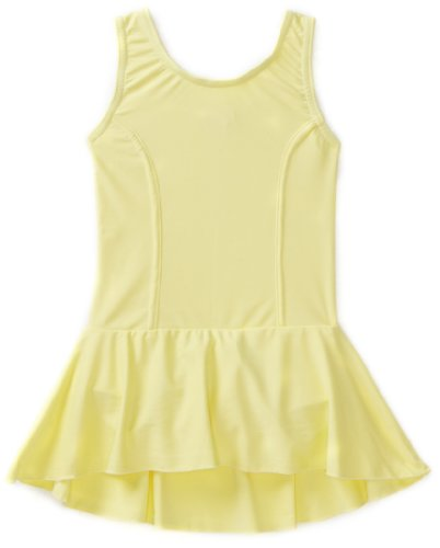 Sansha Little Girls' Fiona Leotard Tank w/ Skirt, Wax Yellow ,Small(C)/4-6 (Skirt Sansha)