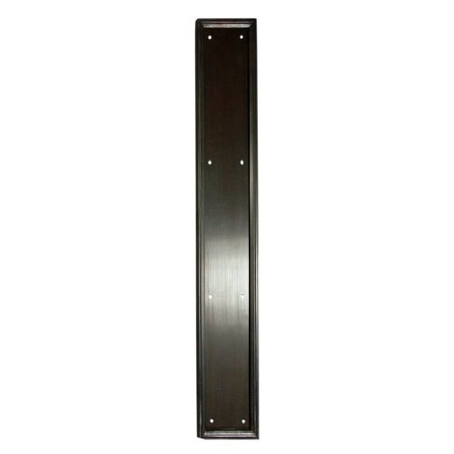 Deltana PP2281 3-1/2'' x 20'' Heavy Duty Solid Brass Framed Push Plate, Oil Rubbed Bronze