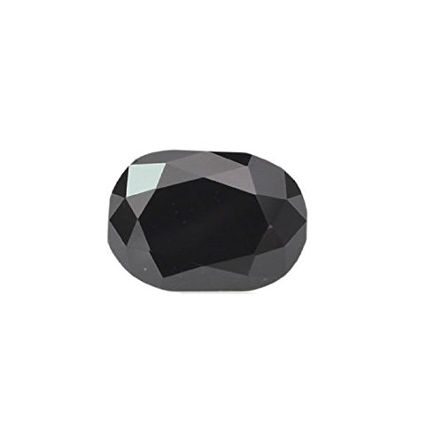 Skyjewels Certified 3.65 Cts Cushion Cut African Black Diamond AAA Quality by skyjewels
