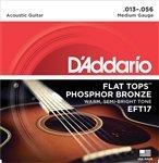 3 Sets D'Addario EFT17 Flat Top Guitar Strings Medium (Flat Strings Guitar Top)