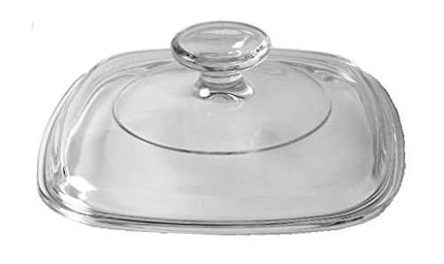 Corning Ware / Pyrex Clear Square Glass Lid ( Clear ) ( 6 1/2