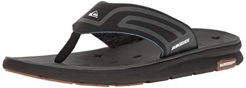 Quiksilver Men's Amphibian Plus Sandal Black/Grey, 10 D US