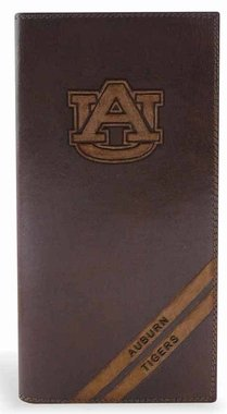 NCAA Auburn Tigers Zep-Pro Pull-Up Leather Long Secretary Embossed Wallet, Brown