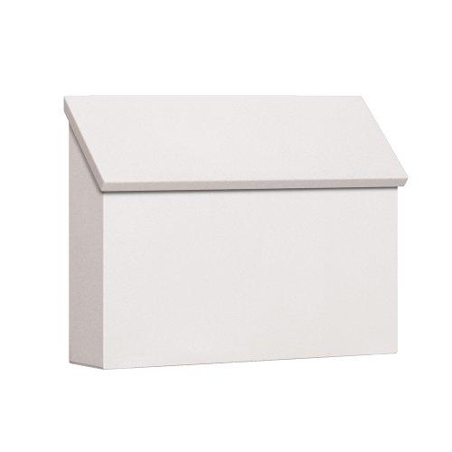 - Salsbury Industries 4610WHT Traditional Mailbox, Standard, Horizontal Style, White