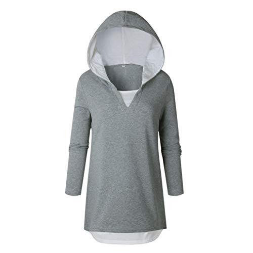 URIBAKE Womens Long Sleeve Hoodie Sweatshirt Hooded Pullover Tops ()