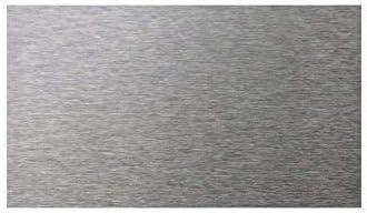 Kredenz K/üche selbstklebende Edelstahl-Fliesen f/ür K/üchenwand B 7,5/x L.15/cm Dicke 4/mm