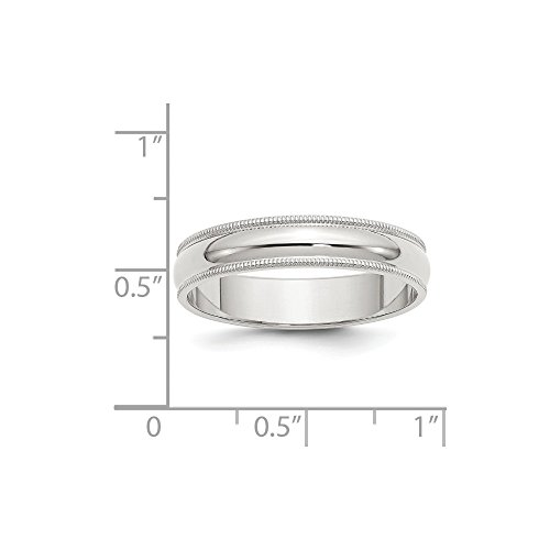 Sterling Silver Engravable 5mm Milgrain Band