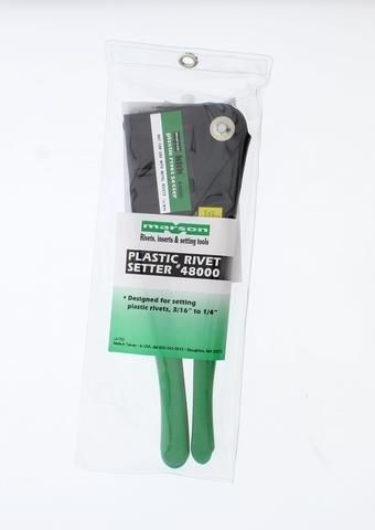Marson 48000 Klik-Lok Plastic Rivet Setter with Vinyl Storage Pouch (Klik Lok Plastic Rivet)