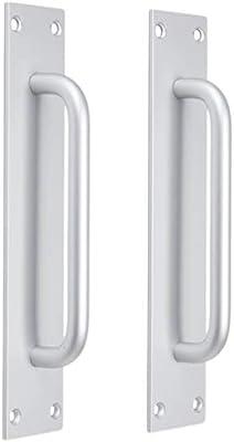 2x Tirador de Puerta Interior de Aluminio Manija Aluminio Puerta Corredera - 5704 + mate: Amazon.es: Bricolaje y herramientas
