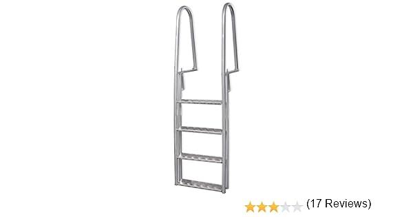 vidaXL Escalera Seguridad Piscina Elevada 4 Peldaño 170 cm ...