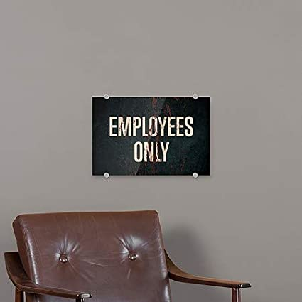Ghost Aged Rust Premium Brushed Aluminum Sign CGSignLab Employees Only 36x24