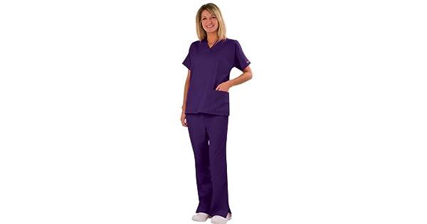 Juego De Pantalones Y Camiseta De Uniforme Medico Para Mujer Cherokee Workwear 4700 4101 Sanitarios Ropa Y Uniformes De Trabajo