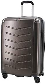 VILLAGIO Hardshell Luggage – Polycarbonate 8 Wheel Spinner with Slash Proof Zipper and TSA lock Maleta De Viaje De Polycorbonato Con TSA Candado 26 Inch, Bronze