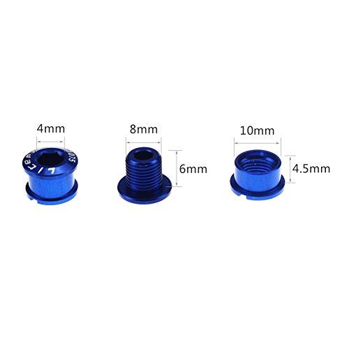 CYSKY Single Chainring Bolts 5 Pack M8 Short Chain Ring Black