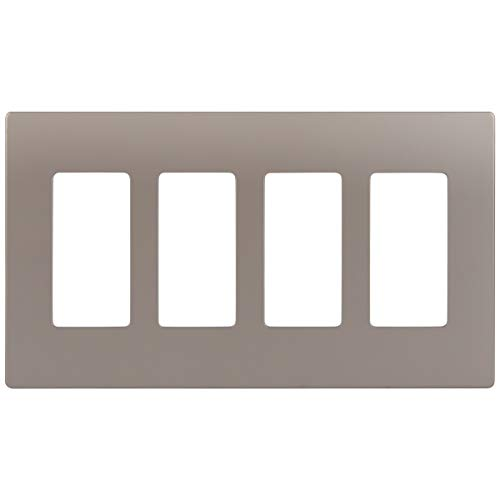 ENERLITES Elite Series Screwless Decorator Wall Plate Child Safe Outlet Cover, Size 4-Gang 4.68