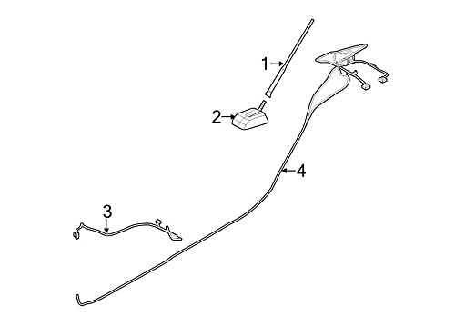 Ford BE8Z-18812-F - Cable Assembly Extension