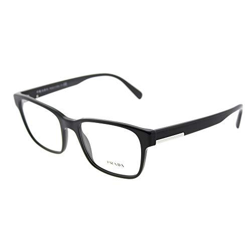 Eyeglasses Prada PR 6 UV 1AB1O1 BLACK (Glasses For Women Prada)