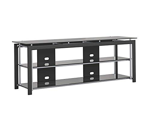Mist Audio Midnight (Wood & Style Midnight Mist 65W TV Stand for Flat Screens in Black Decor Comfy Living Furniture Deluxe Premium Collection)