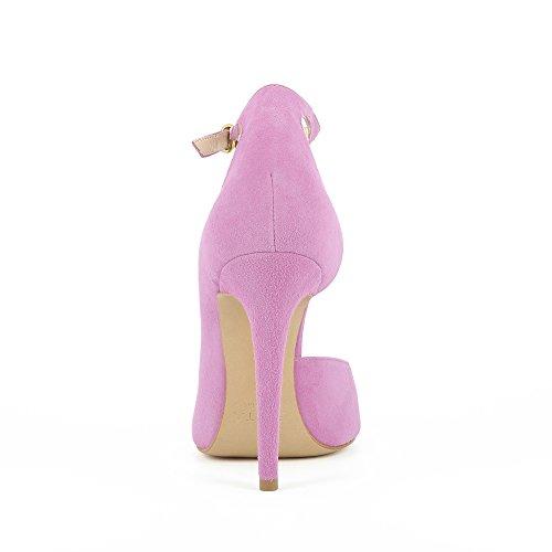 Escarpins Shoes Daim Ouverts Violet Femme Semi Lisa Evita qfgw76TE6