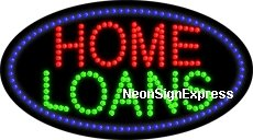 Animated Home Loans LED Sign