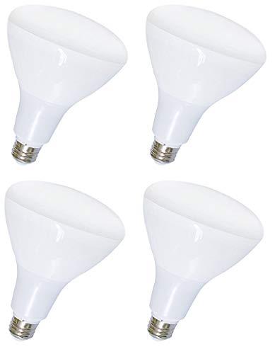 (Lifetime Series BR30 LED Flood Light Bulbs by Bioluz LED BR30 LED Dimmable Floodlight, Warm White LED Flood Lamp 2700K Indoor Outdoor UL Listed (Pack of 4))