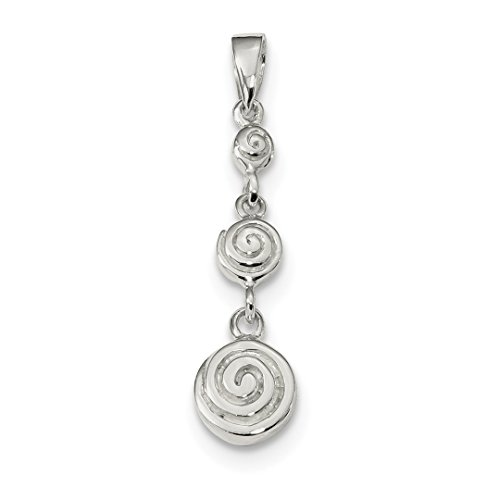 Bracelets Burning Wooden (925 Sterling Silver Spiral Dangle Pendant Charm Necklace Fancy Fine Jewelry For Women Gift Set)