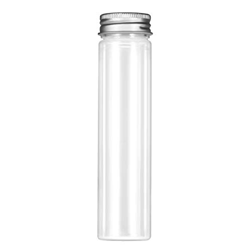 UKCOCO 15 Pack Flat Bottom Plastic Test Tube with Screw Caps for Kinds of Laboratory Glassware Cosmetic Travel Lotion Containers (110ML) ()