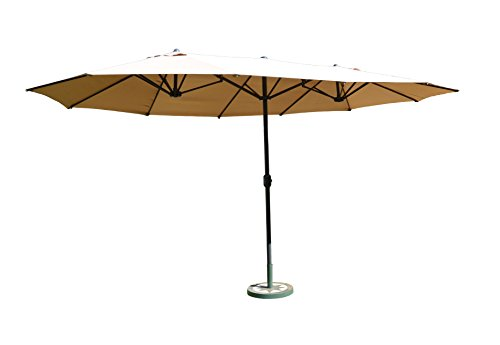 Leco Oval-Schirm, 2.70 x 4.60 m, natur