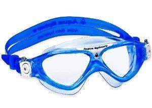 Aqua Sphere Vista Junior Swim Mask, Blue White - Clear Lens