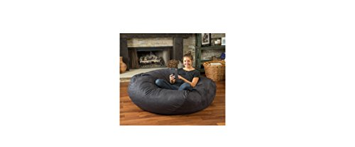 Huge 5-foot Bean Bag Faux Suede By Christopher Knight Madison. This Super Comfortable Beanbag Now Is for Sale! Extra Large Bean Bag Chair Is Amazing Both for Adults and for Children, Kids Can Play on It, While Adults Can Simply Relax in Its Softness (Char by Christopher Knight Madison